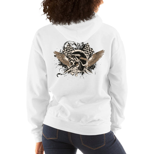 Ladies Hooded Sweatshirt, Skull design at the back code: 175