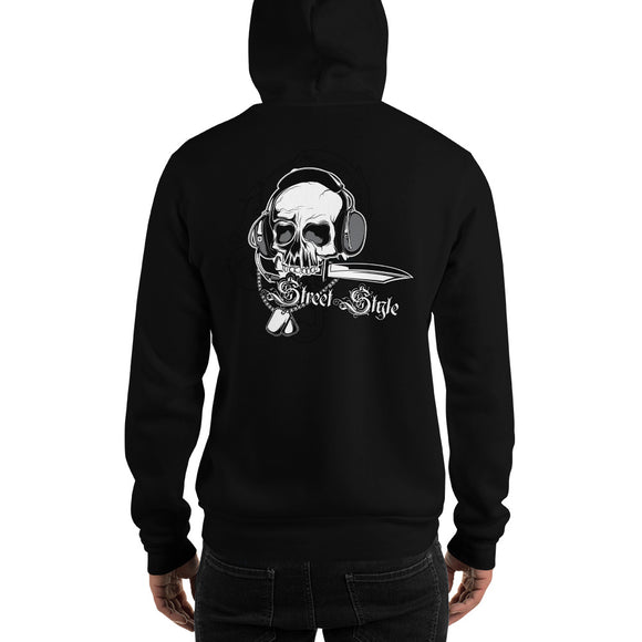 Men's Hooded Sweatshirt, Skull design at the back code: 150