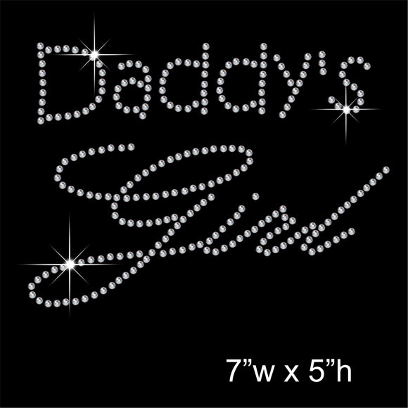 Daddy's Girl Hotfix Rhinestone Transfer Diamante Motif, Iron on Applique