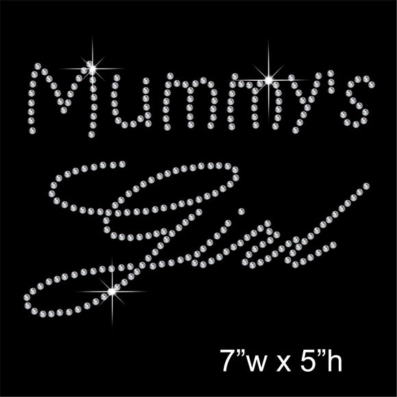 Mummy's Girl Hotfix Rhinestone Transfer Diamante Motif, Iron on Applique
