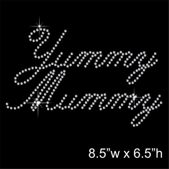 Yummy Mummy Best Mom Hotfix Rhinestone Transfer Diamante Motif, Iron-on Applique