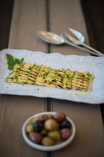 Load image into Gallery viewer, Grilled Zucchini with Lemon Garlic Sea Salt.  Roasted Potatoes with Lemon Garlic Sea Salt.