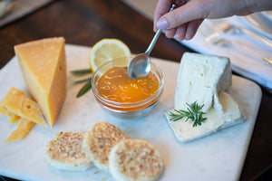 Lemon Honey Jelly Accompanied with Assorted Cheeses