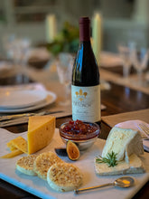 Load image into Gallery viewer, Fig Jam with Assorted Cheeses & DeLoach Pinot Noir