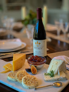 Fig Jam with Assorted Cheeses & DeLoach Pinot Noir