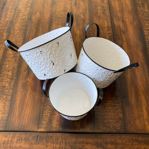 Enamel Filigree Bucket
