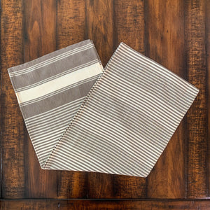 Brown Striped Table Runner
