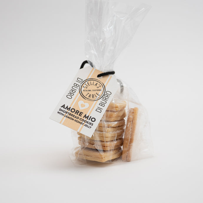 Amore Mio Shortbread Cookies with Lemon Honey Jelly