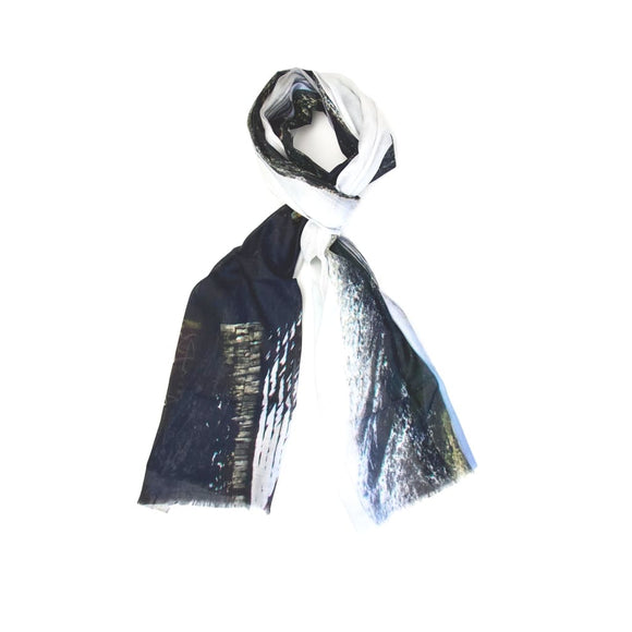 Beyond The Misty Mountains | Dove Lake Hut Tasmania - Cashmere Blend Designer Womens Scarf - Cashmere Blend