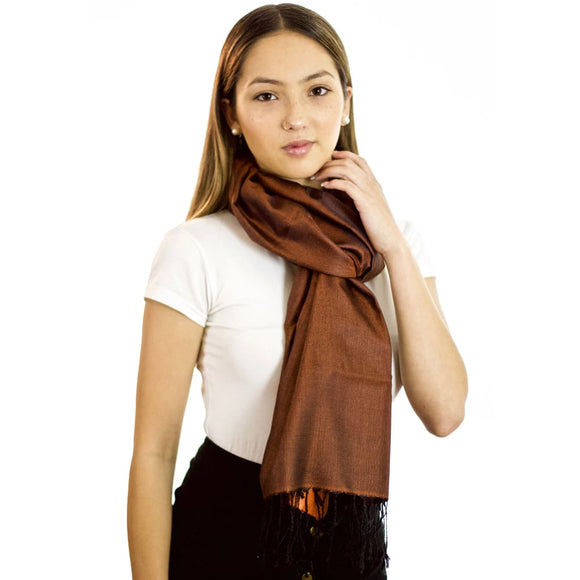 Copper Mystique - Silk Reversible Scarf