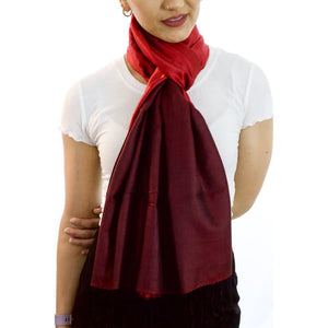 Dark Passion - Silk Reversible Scarf