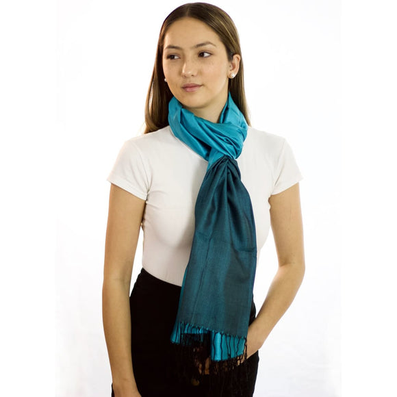 Elusive Night - Silk Reversible Scarf