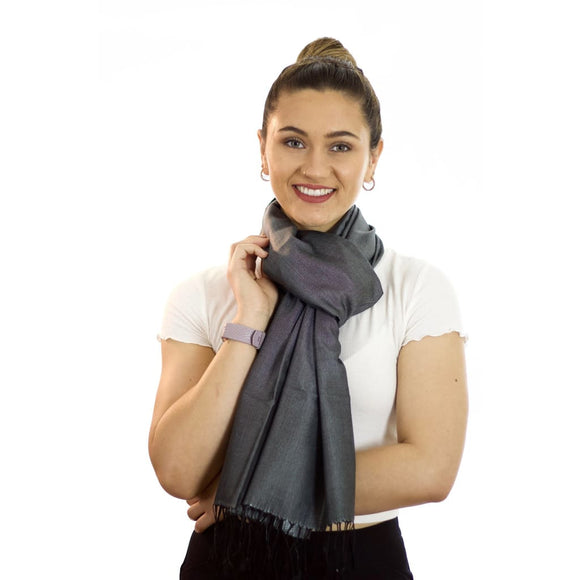 Shades Of Grey - Silk Reversible Scarf