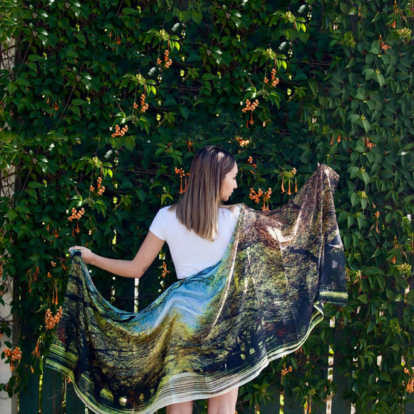 Spring Is In The Air | Dunrossil Drive Canberra - Cashmere Blend Designer Womens Scarf - Cashmere Blend