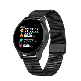 Heart Rate and Blood Pressure Monitor Fitness Tracker Watch in Mesh Steel Band - The Heart Rate Monitor Store