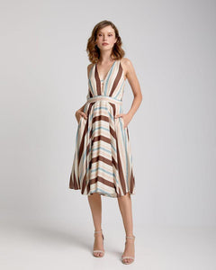 MIDI DRESS EARTH COLOURS