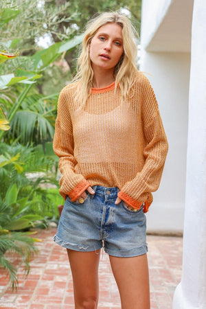 Apricot Coral Sweater