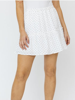 Black and White Dot Skirt