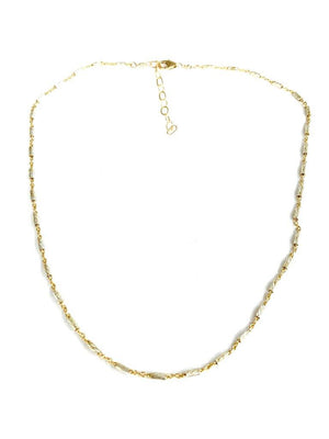 Gold Silver Link Necklace