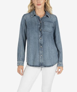 Grace Button Down Denim Shirt
