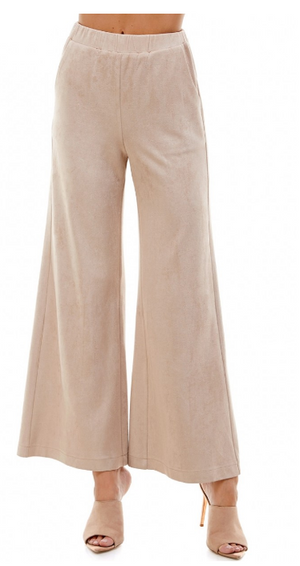 High Waisted Faux Sude Pant