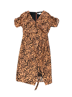 Leopard Print Short Sleeve Dress