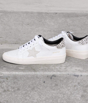 White Sneaker Cheetah Back