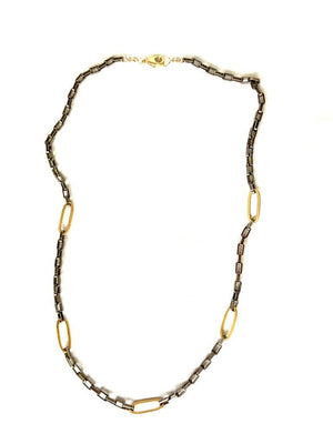 Thin Mixed Metal Necklace