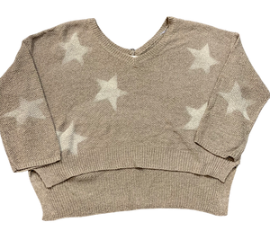 V-Neck Star Sweater
