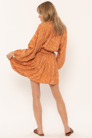 Luciana Long Sleeve Woven Dress