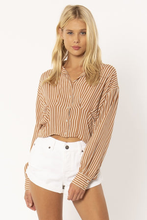 Kala Long Sleeve Woven Blouse