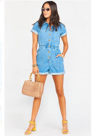 Show Me Your Mumu Cannon Denim Romper