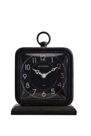 "5""L x 6-3/4""H Pewter Table Clock"