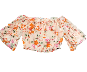 Off The Shoulder Floral Crop Top