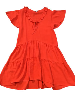 Ruffle Collar Babydoll Dress