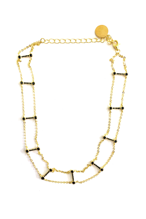 Eden Gold Choker With Black Stones