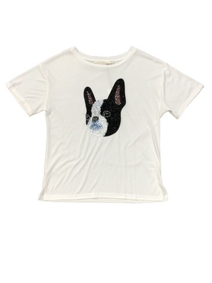 French Bulldog Embroidered Tee