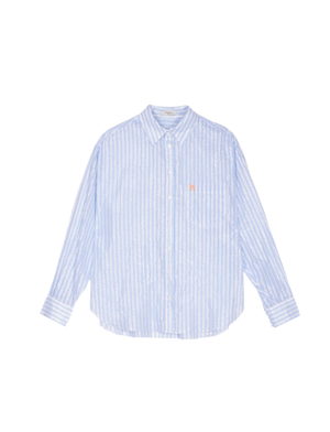 Camellia Stripe Button Down Top