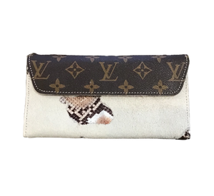 Repurposed LV Magnetic Closure Wallet