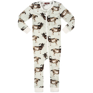 Goat Zipper Pajamas