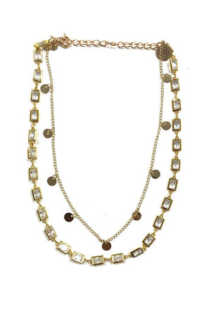 Henley Gold Diamond Double Strand Necklace