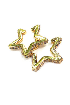 Jayden Gold Star Cuff Earring