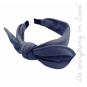 Denim Top Knot Headband