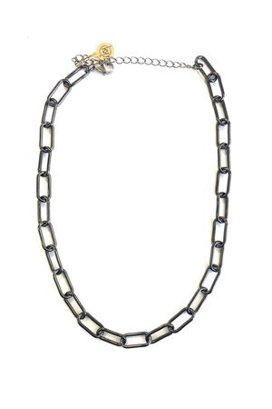 Lex Gunmetal Chain Link Necklace