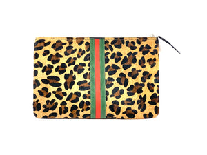Cowhide Stripe Clutch