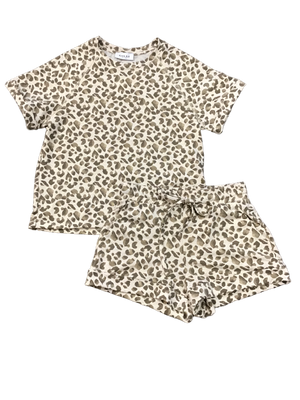 Short Sleeve Leopard Top