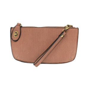 Mini Linen Crossbody Clutch