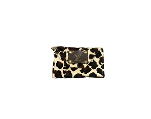 Repurposed LV Cowhide Clutch