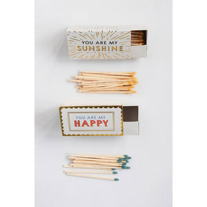 Triangle Matchbox With Sayings