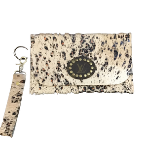 Mena Repurposed LV Wristlet